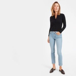 EVERLANE Mid Rise Skinny Ankle Jeans Light Wash